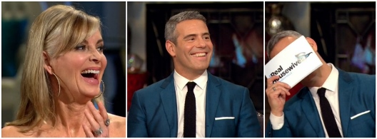 Andy Cohen Eileen Davidson Laughing Reunion