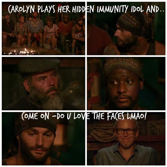 carolyn plays hidden immunity idol