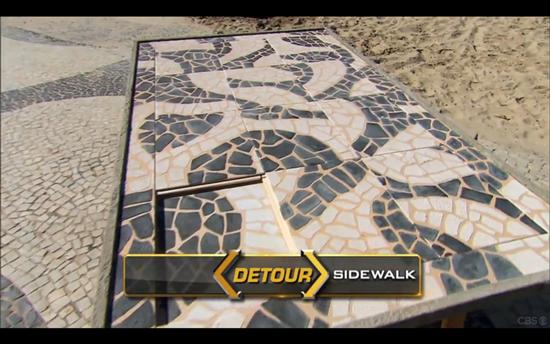 Amazing Race Sidewalk Detour