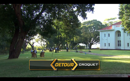 Amazing Race Detour croquet