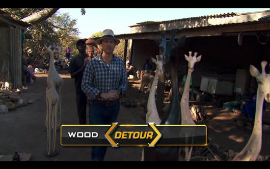 Amazing Race Detour wood
