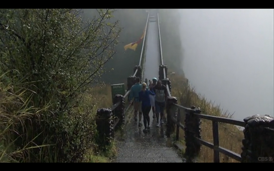 Amazing Race flag Victoria Falls 2