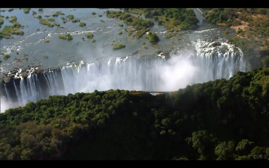 Amazing Race flag Victoria Falls