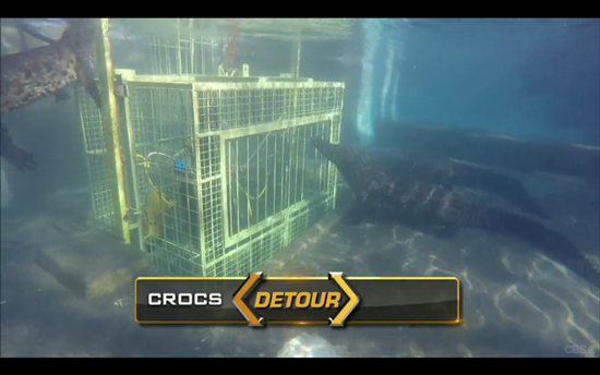 Amazing race Detour crocs