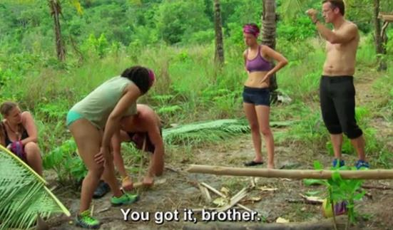 Survivor 31 Joe starts Fire