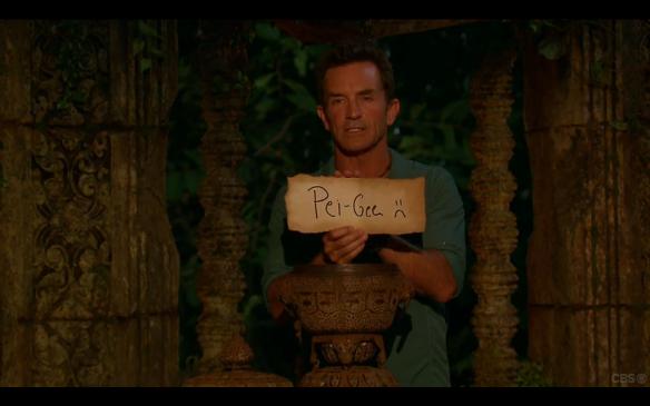 Survivor 31 PeihGee Voted off