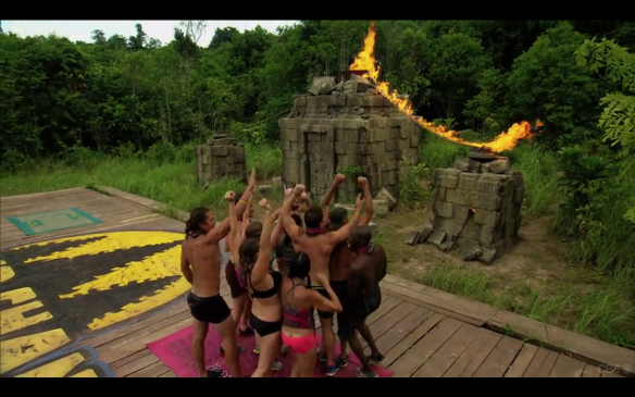 Survivor Bayon Wins challenge