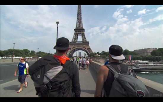 Amazing Race Josh Tanner Paris Eiffel