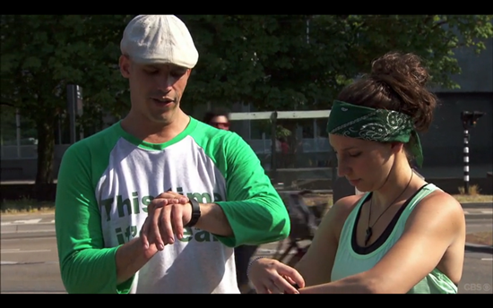 Amazing Race green team fitbit