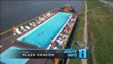 Krakow Poland Plaza Krakow pool barge