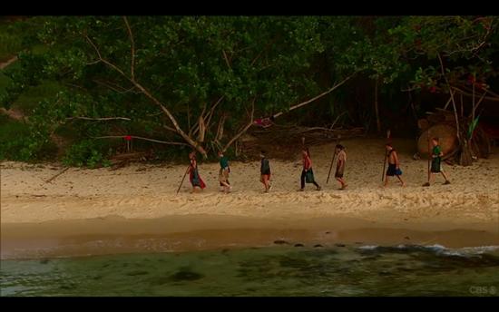 Survivor Tribal Council walk