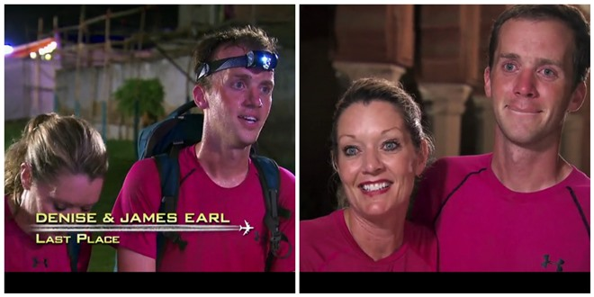 Amazing Race James Earl and Denise eliminated