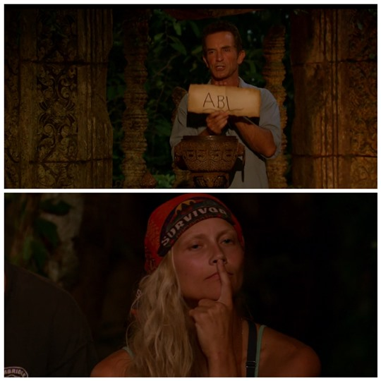 Survivor Second Chance Tribal Council Abi off