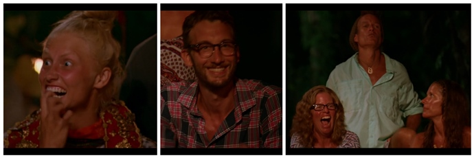 Survivor Second Chance Tribal Council Wentworth happy